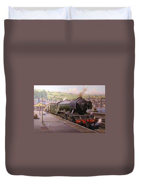 Scotsman At Kingswear Duvet Cover