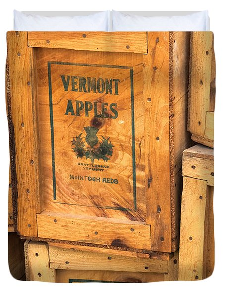 Scott Farm Apple Boxes Duvet Cover