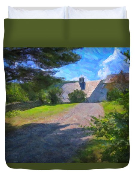 Duvet Cover featuring the photograph Scott Farm Summer by Tom Singleton
