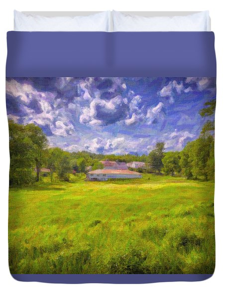 Duvet Cover featuring the photograph Scott Farm by Tom Singleton