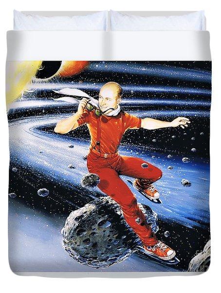 Scott Hamilton Skates The Stars Duvet Cover