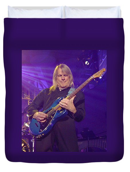 Duvet Cover featuring the photograph Steve Morse Kansas by Don Olea