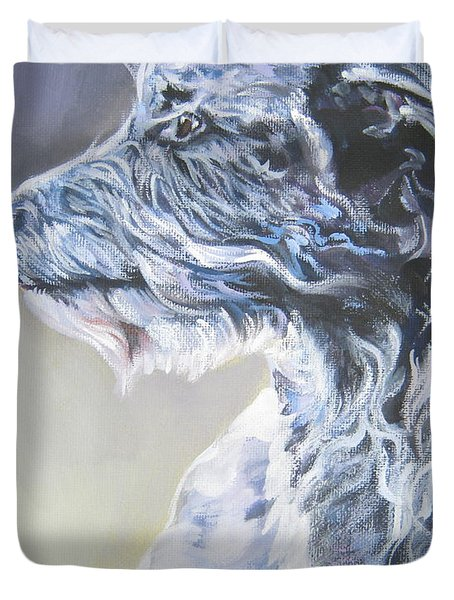 Scottish Deerhound Duvet Cover by Lee Ann Shepard