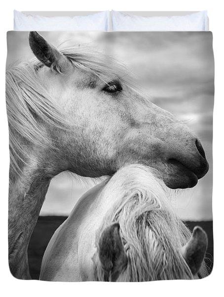 Scottish Horses Duvet Cover