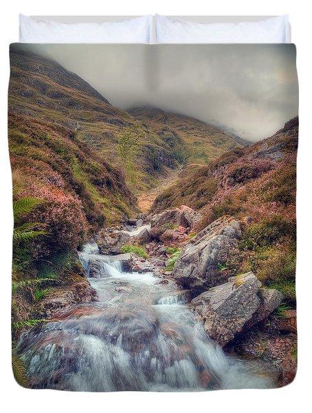 Scottish Mountain Stream Duvet Cover by Ray Devlin