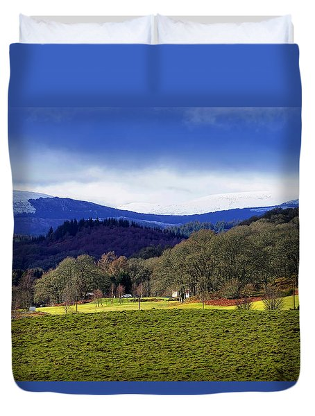 Duvet Cover featuring the photograph Scottish Scenery by Jeremy Lavender Photography