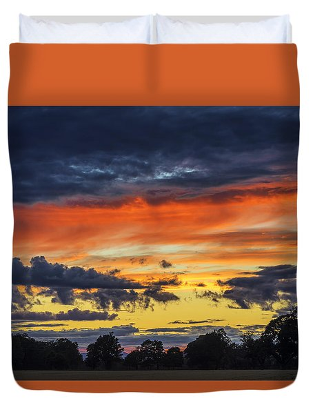 Duvet Cover featuring the photograph Scottish Sunset by Jeremy Lavender Photography