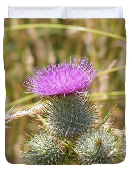 Scottish Thistle Duvet Cover