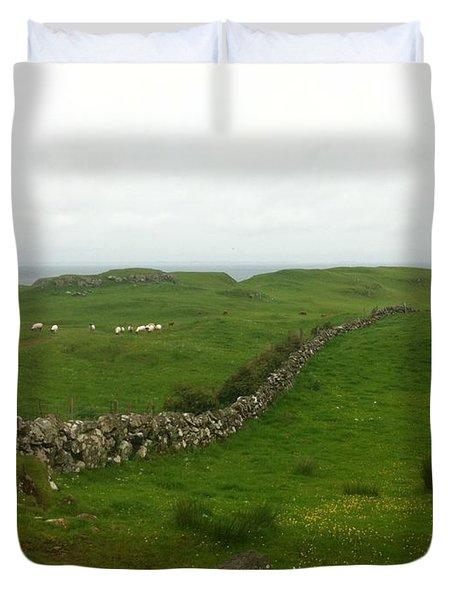 Scottish Wall Duvet Cover
