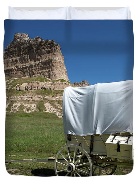 Scotts Bluff National Monument Nebraska Duvet Cover