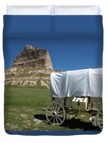 Duvet Cover featuring the photograph Scotts Bluff National Monument Nebraska by Steven Frame