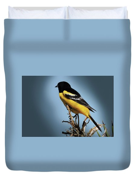 Scott's Oriole In Desert Duvet Cover