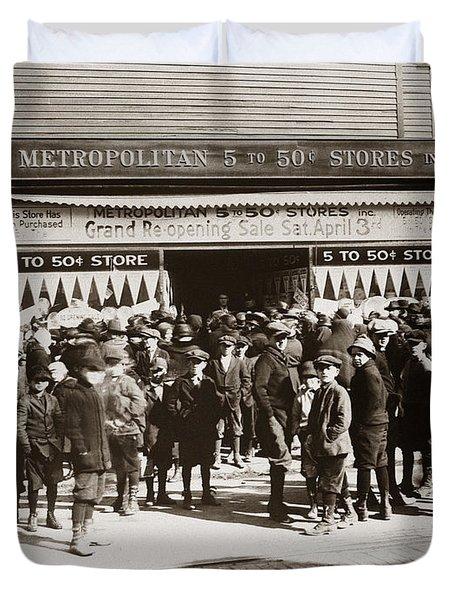 Scranton Pa Metropolitan 5 To 50 Cent Store Early 1900s Duvet Cover