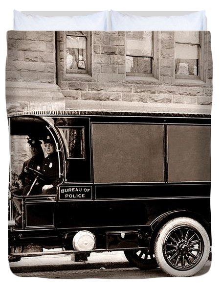 Scranton Pennsylvania  Bureau Of Police  Paddy Wagon  Early 1900s Duvet Cover