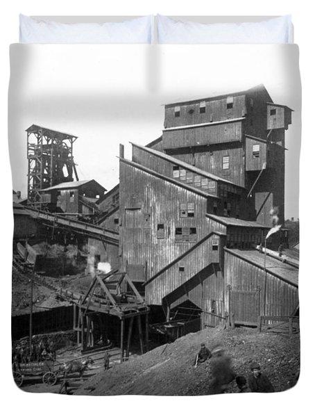 Scranton Pennsylvania Coal Mining - C 1905 Duvet Cover
