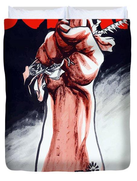 Scrap - Ww2 Propaganda Duvet Cover