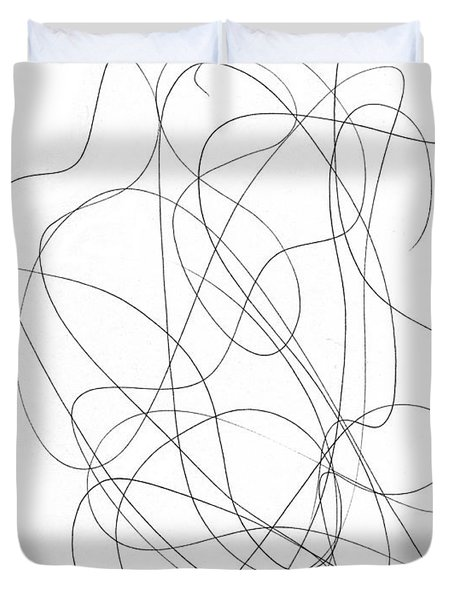 Scribble For Grin And Bear It Duvet Cover