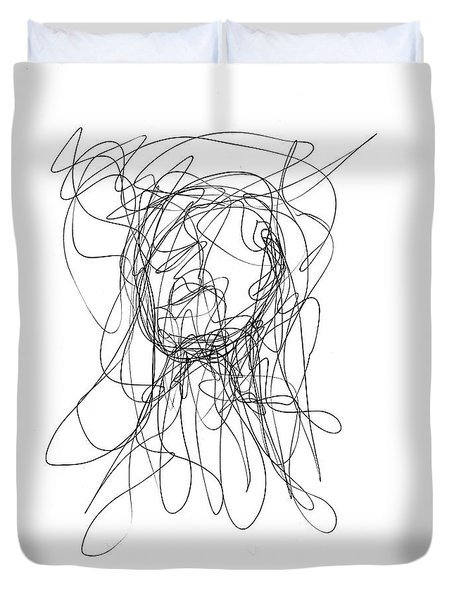 Scribble For Gusts, Dust, The Sun... Duvet Cover