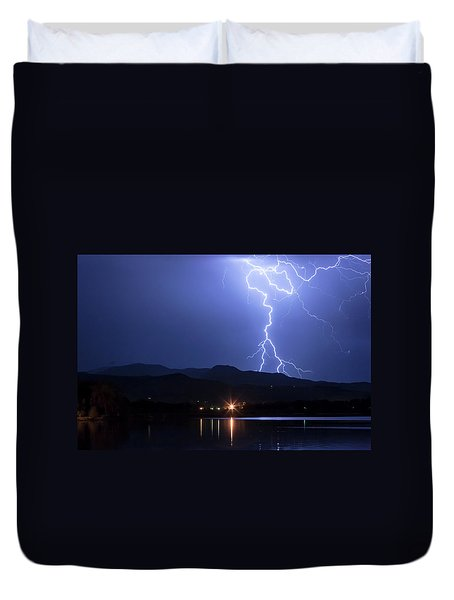 Duvet Cover featuring the photograph Scribble In The Night by James BO Insogna