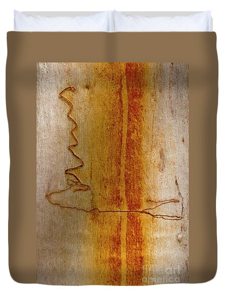 Duvet Cover featuring the photograph Scribbly Gum Bark by Werner Padarin