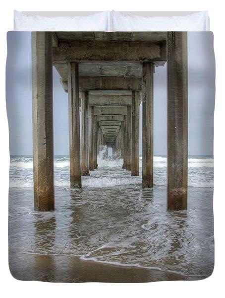 Scripps Pier La Jolla California 4 Duvet Cover