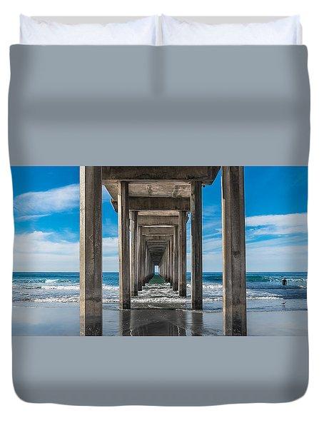 Scripps Pier La Jolla California Duvet Cover
