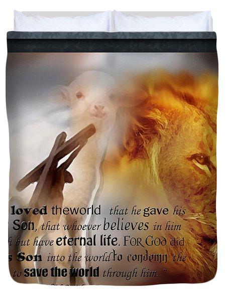 Scripture Art    Lamb Of God Duvet Cover