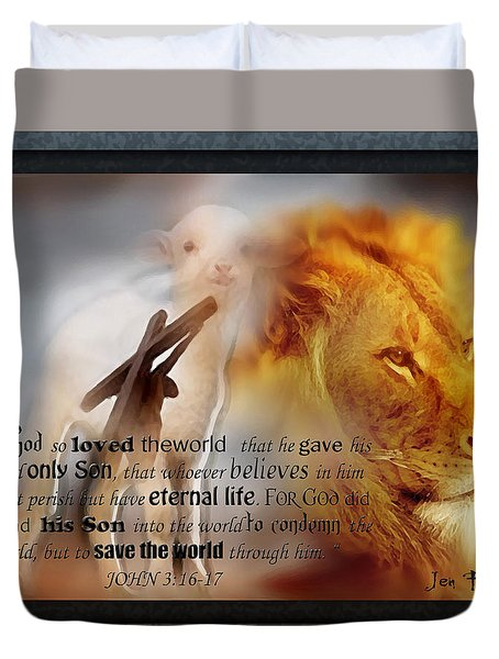 Scripture Art    Lamb Of God Duvet Cover