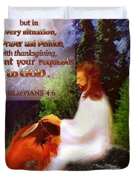 Scripture Art   Native Prayer Duvet Cover