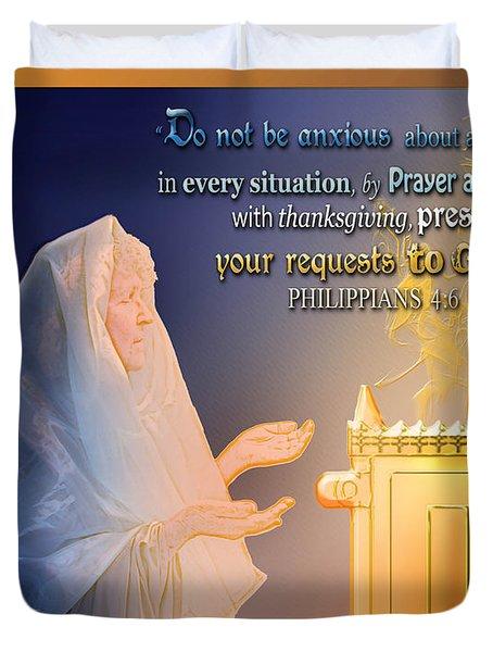 Scripture Art   Watchman's Prayer Duvet Cover