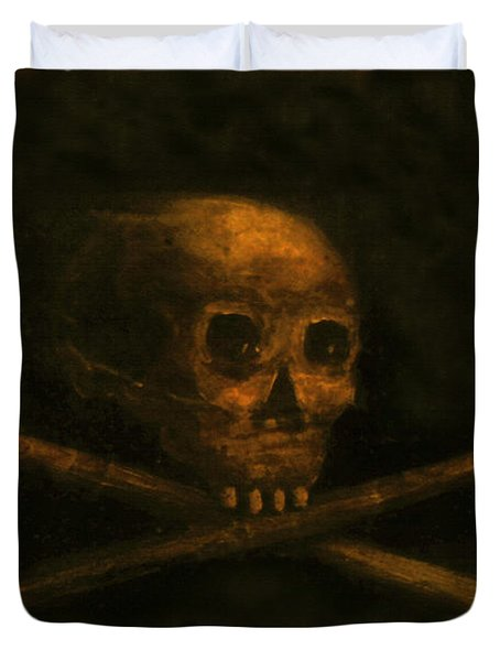 Scull And Crossbones Duvet Cover by David Lee Thompson