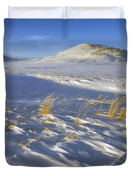 Sculpted By The Wind Duvet Cover by Mike  Dawson