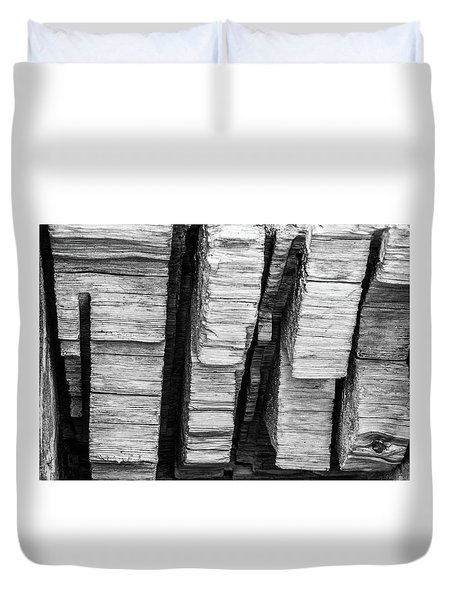 Sculpted Log Duvet Cover