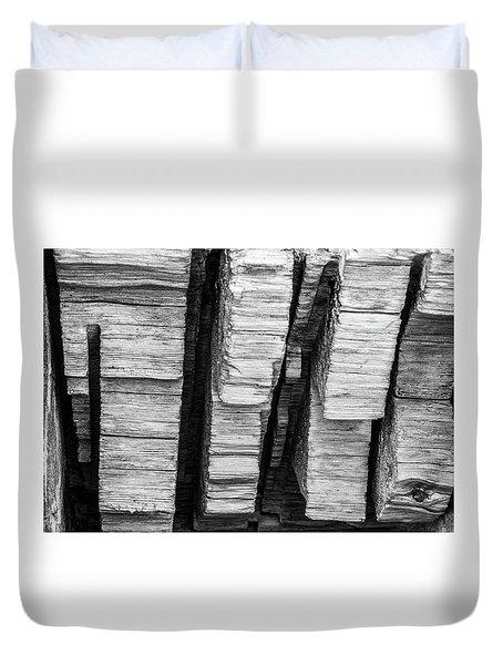 Sculpted Log Duvet Cover