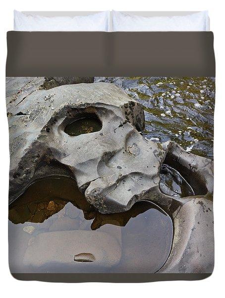 Sculpted Rock Duvet Cover