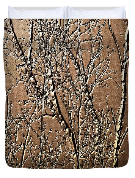 Sculpted Tree Branches Duvet Cover