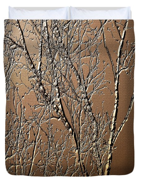 Sculpted Tree Branches Duvet Cover by Smilin Eyes  Treasures