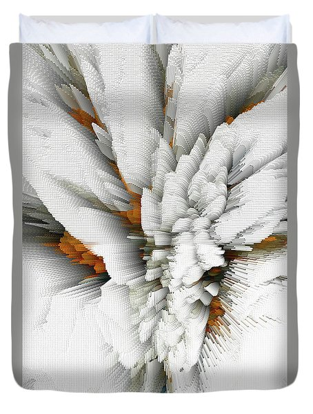 Duvet Cover featuring the digital art Sculptural Series Digital Painting 05.072311 by Kris Haas