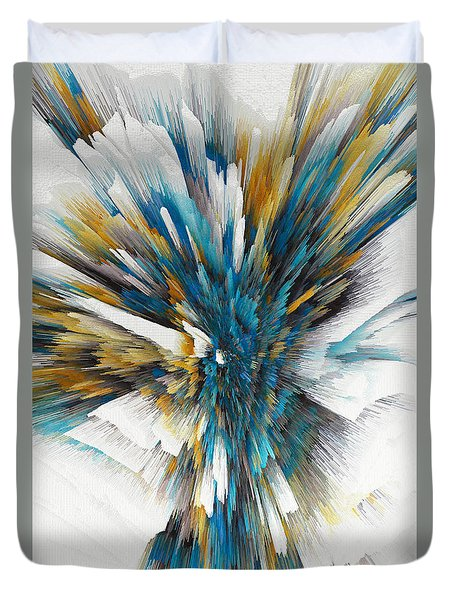 Duvet Cover featuring the painting Sculptural Series Digital Painting 08.072311ex490l by Kris Haas