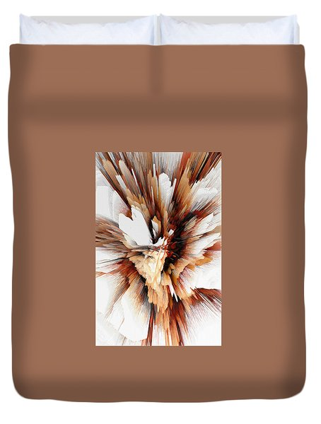 Duvet Cover featuring the digital art Sculptural Series Digital Painting 23.120210ext5100l by Kris Haas