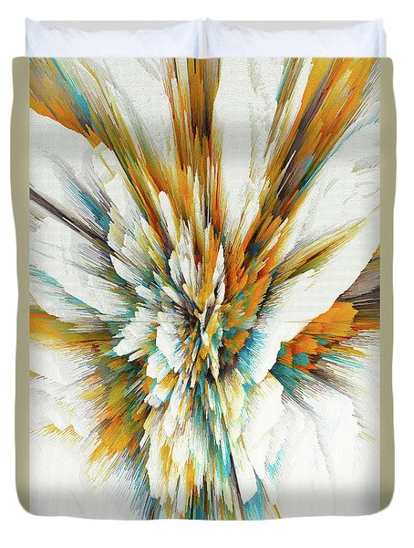 Duvet Cover featuring the digital art Sculptural Series Digital Painting 05.072311ex590lvs.jpg  by Kris Haas
