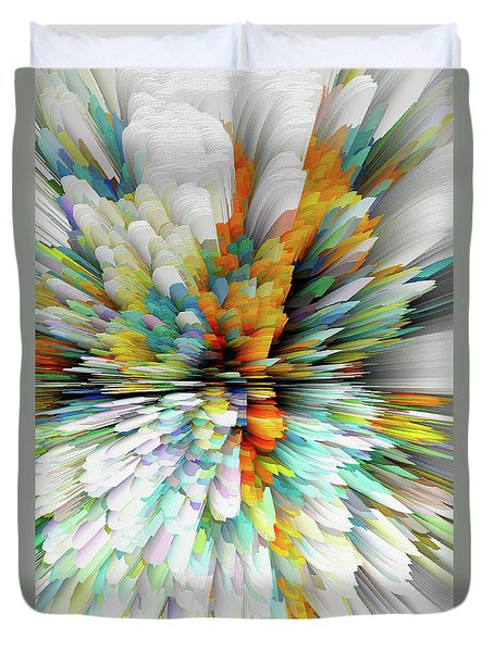 Duvet Cover featuring the digital art Sculptural Series Painting23.102011windblastsccvsext4100l by Kris Haas