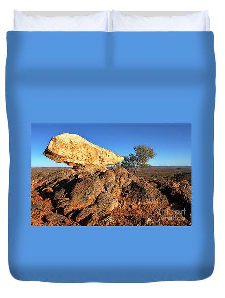 Duvet Cover featuring the photograph Sculpture Park Broken Hill by Bill Robinson