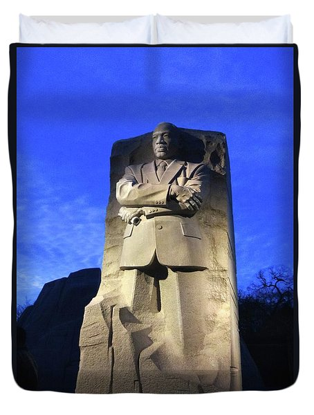 Sculptured Profile Martin Luther King Jr. Duvet Cover