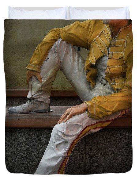 Sculptures Of Sankt Petersburg - Freddie Mercury Duvet Cover