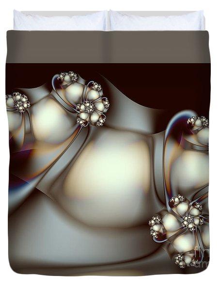 Duvet Cover featuring the digital art Sculpture by Karin Kuhlmann