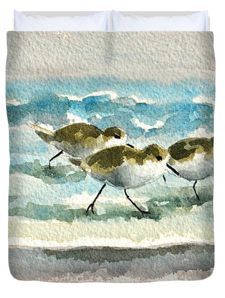 Scurrying Along The Shoreline 2  1-6-16 Duvet Cover