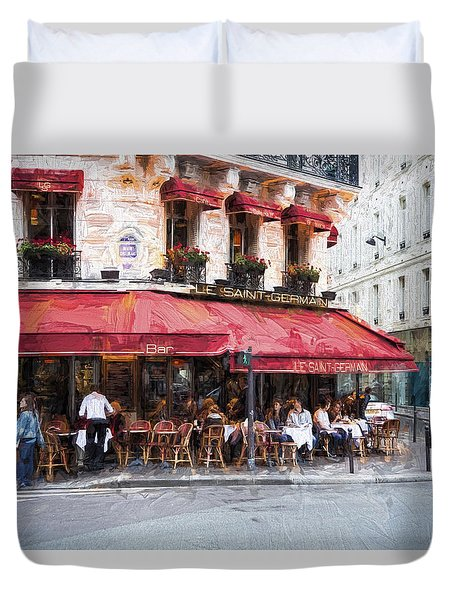 Duvet Cover featuring the photograph Le Saint Germain by John Rivera