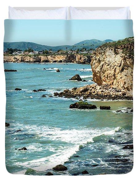Sea And Cliffs Duvet Cover