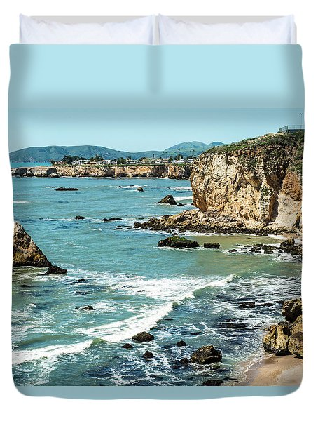 Sea And Cliffs Duvet Cover